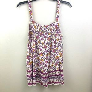 Old Navy Floral Plus-Size Tiered Hem Tank - 1X